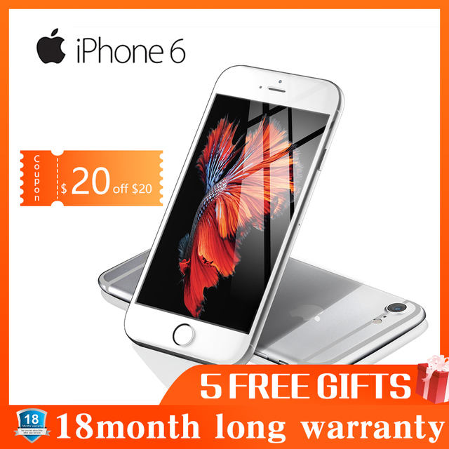 Refurbished Apple iPhone 6 smartphone 1GB RAM 16GB ROM 12.0MP LTE camera fingerprint unlocked 4.7 inch mobile phone WIFI GPS 4G