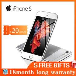 Remodelado apple iphone 6 smartphone 1 gb ram 16 gb rom 12.0mp lte câmera de impressão digital desbloqueado 4.7 polegada telefone móvel wifi gps 4g