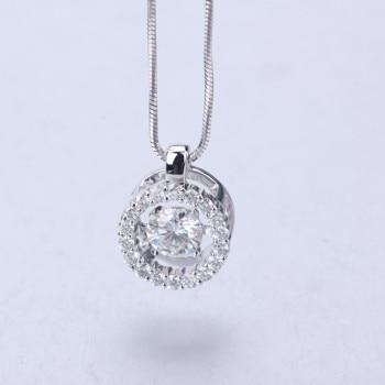 Fashion jewelry 18k White Gold moissanite stone long pendant necklace moissanite diamond jewelry for women wedding nacklace 2