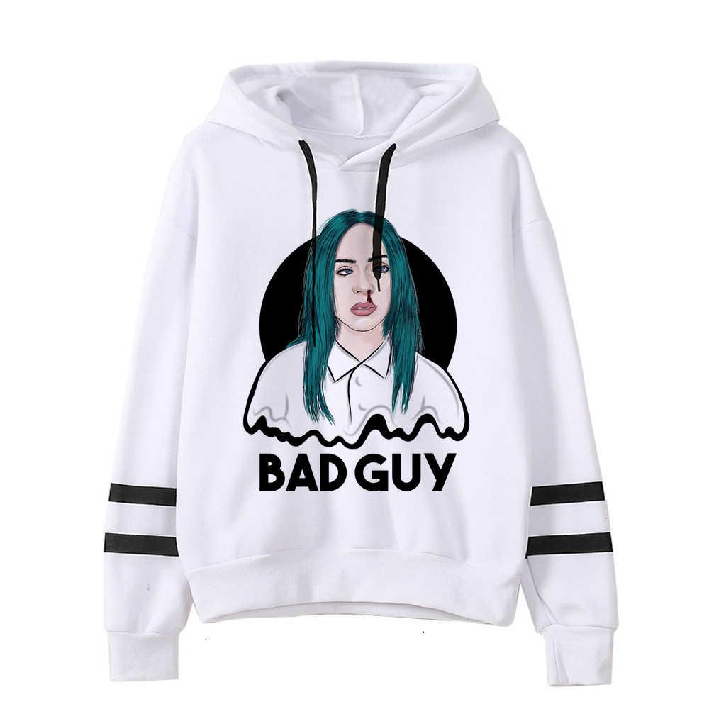 Billie Eilish Hoodies Pria/Wanita Lucu Hip Hop Fashion Kawaii Sweatshirt Grafis Harajuku 90 S Tumblr Berkerudung Streetwear Pria