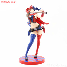 22CM Harley Quinn figure PVC collectible model Action figure Joker fans favorite Harley Quinn model Room decoration HD43