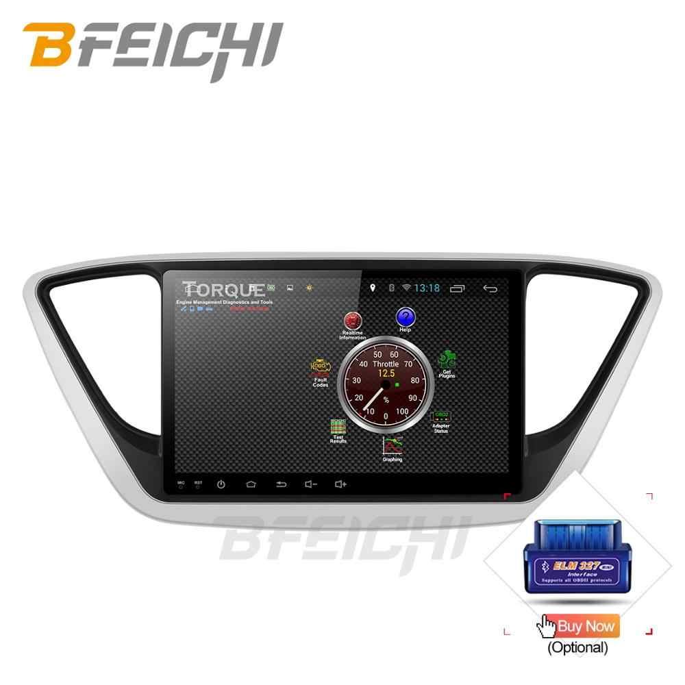 """Coche DVD GPS para Hyundai Verna Solaris 2017 octa Core 9 """"Android 9,0 pc la unidad 1024 * navegación por Radio para coche 600"""