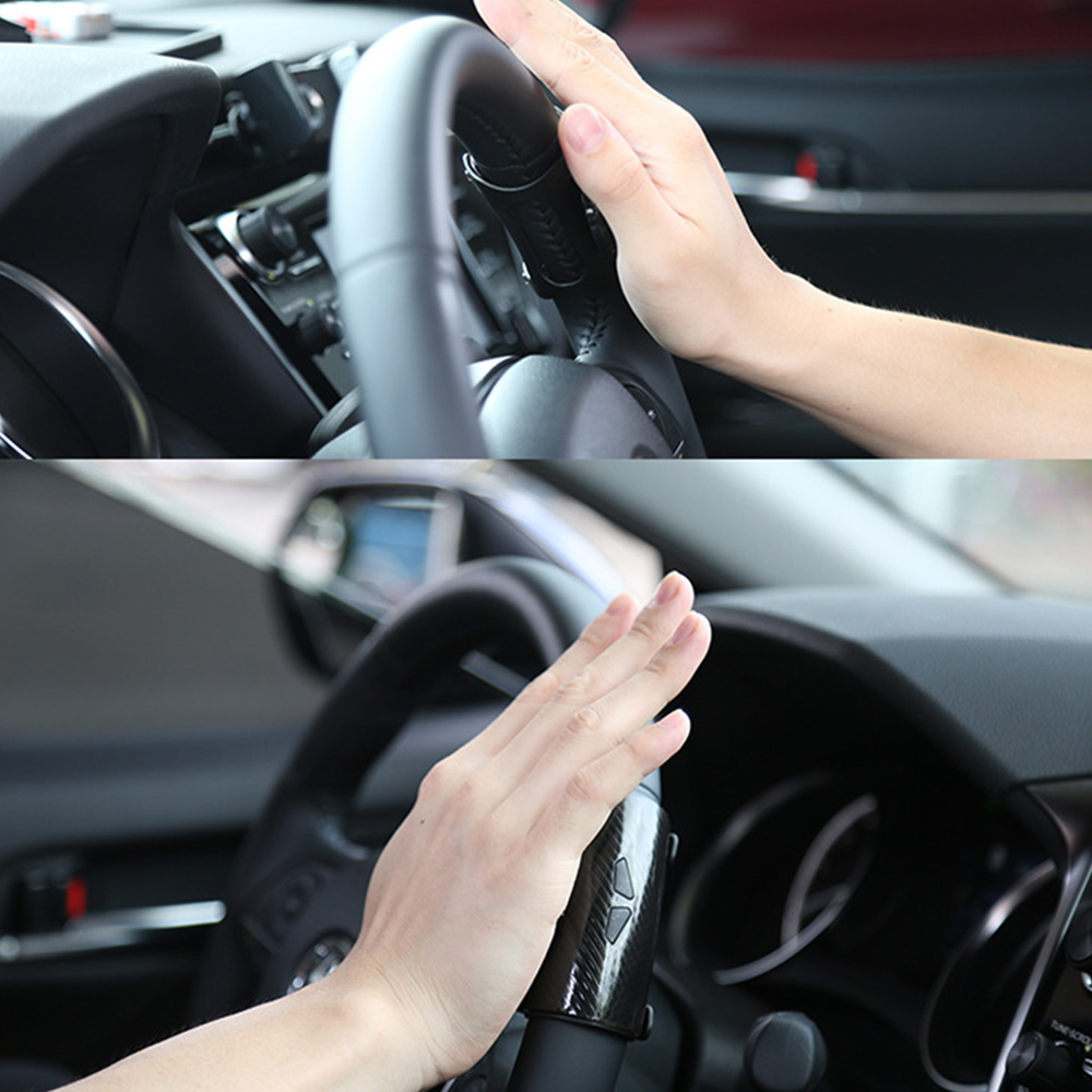 Car Knob Spinner Rotation Anti-Slip Steering Wheel Booster Tool Black