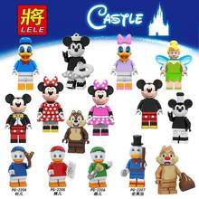 For Friends Mickeys Chip Dale Cartoon PRINCESS Donald Scrooge Duck Daisy Mermai Tinker Minnie Mouse Building Blocks Figures Toys(China)
