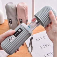 Travel Camping Portable Toothbrush Toothpaste Holder Storage Case Box Household Organizer Cup Outdoor Holder Bathroom Accessorie
