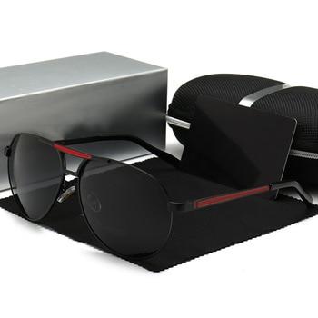 Sunglasses Men Luxury Brand Designer Policer Polarized Driving Glasses UV400 Pilot oculos de sol masculino