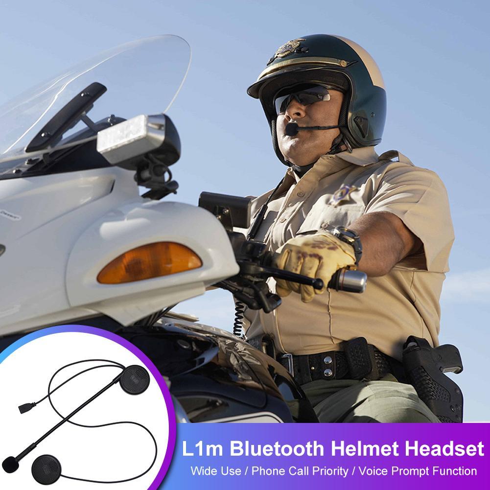 Intercom L1M Ultra-thin Motorcycle Helmet Wireless Bluetooth Headset Earphone Helmet Speaker With Sponge Microphone