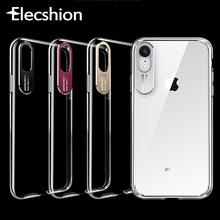For iPhone XR Case Phone Camera Ring Transparent Cover X Xs Max 6 7 8 Plus Capinha Luxury Silicone Cases TPU Capa