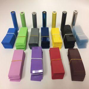 500 шт изолированные 18650 батареи литий-ионная ПВХ термоусадочная трубка обмотка Precut Размер 72*30 мм батарея пленка крышка батареи 9 цветов на вы...