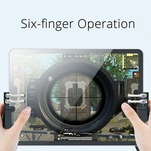 Image 2 - New H11 PUBG Gamepad Controller Six Finger Game Joystick Handle For Ipad Tablet L1R1 Fire Button Aim Key PUBG Trigger