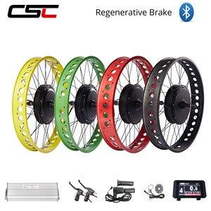 Electric Fat Bike Kit Snow Wheel 20 24 26 inch 36V 48V 500W 1000W 1500W 4.0 Tyre Brushless Hub Motor Bicycle Conversion Kit(China)