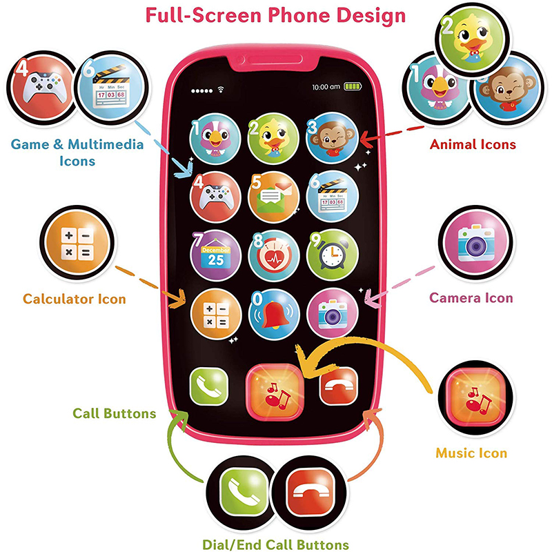 HOLA 3127 Baby Toys Phone ,Sing And Count Toy Cell Phone For Toddlers, Role Play Baby Phone For Early Learning Educational Gifts