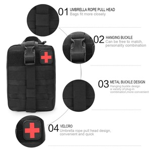 Image 2 - Camping First Aid kit Tactical Medical Portable Military Hike  Medicine Package Emergency Oxford Cloth Waist Pack Big Empty Bag