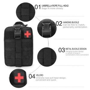 Image 2 - Kamp ilk yardım çantası taktik tıbbi taşınabilir askeri yürüyüş ilaç paketi acil Oxford kumaş bel paketi büyük boş çanta