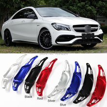 цена на 2pcs Car Steering Wheel Shift Paddle Shifter Extension For BENZ AMG CLA 45 2015-2017