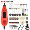 NEWACALOX UE/EE. UU. 220V 130W eléctrico Mini molinillo de velocidad Variable talladora máquina para Metal madera vidrio grabado herramienta Accesorios