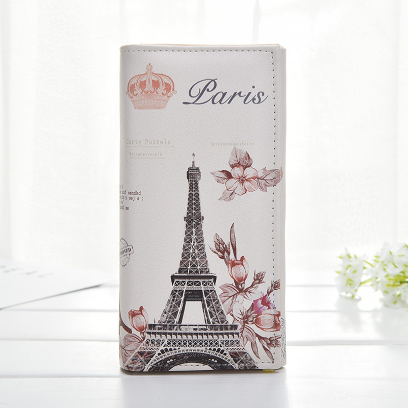 Eiffel Tower Women's Wallets Phone Clutch Bag Purses Long Wallet For Women Girl Ladies Money Coin Pocket Card Holder