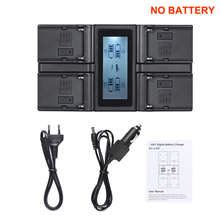 Andoer NP F970 4 Channel Digital Camera Battery Charger for Sony NP F550 F750 F950 NP FM50 FM500H QM71 with DC Car Charger