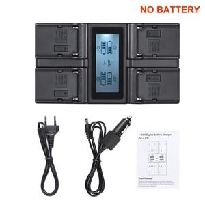 Image 1 - Andoer NP F970 4 Channel Digital Camera Battery Charger for Sony NP F550 F750 F950 NP FM50 FM500H QM71 with DC Car Charger