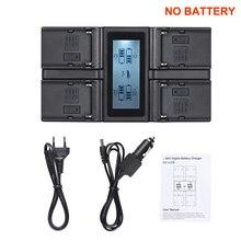Andoer NP F970 4 channel carregador de bateria da câmera digital para sony NP F550 f750 f950 NP FM50 fm500h qm71 com carregador de carro dc