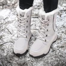 Women Boots Waterproof Winter Shoes Women Snow Boots Platform Keep Warm Ankle Winter Boots With Thick Fur Heels Botas Mujer 2019 цены онлайн
