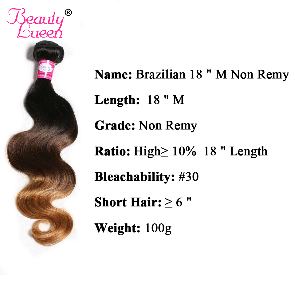 Beauty Lueen Body Wave Ombre Brazilian Hair Honey Ombre Blonde Hair Bundles 1B 4/27 Non Remy Human Hair extension Can buy 3 or 4 lingerie top