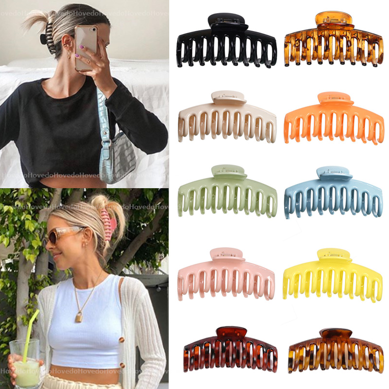 Crab Hair Claw-Clip Barrette Hair-Accessories Gift Girls Solid-Color Hot-Sale Large Women
