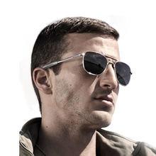 Estilo militar dos homens fazer exército clássico piloto óculos polarizado óculos de sol qualidade superior de metal projeto da marca ócu