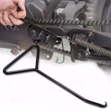 Motocykl ze stali nierdzewnej stojak wydechowy hak sprężynowy ściągacz Motocross motor terenowy ATV skutery tanie tanio LISHEN 17cm Motorcycle Spring Hook all-metal as shown 0 5kg Uniwersalny