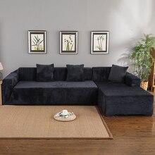 Velvet 2pcs Living Room L Shaped Corner Sofa P27