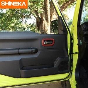 Image 5 - SHINEKA molduras interiores para Suzuki Jimny JB74, manija de puerta Interior de coche, accesorios de decoración para Suzuki Jimny 2019 +