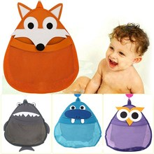 Cartoon Shower Storage Bags For Babies and Children Receive Hanging Bags Distribution with Hooks Waterproof Bathroom Mesh Bags