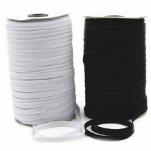 Hot sell 182 m sewing elastic band white black high fiat rubber waist Sewing Stretch Rope 5BB5629