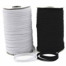 Горячий продавать 182 м швейные резинка белый черный высокой Фиат резина талия шитье эластичных веревок 5BB5629