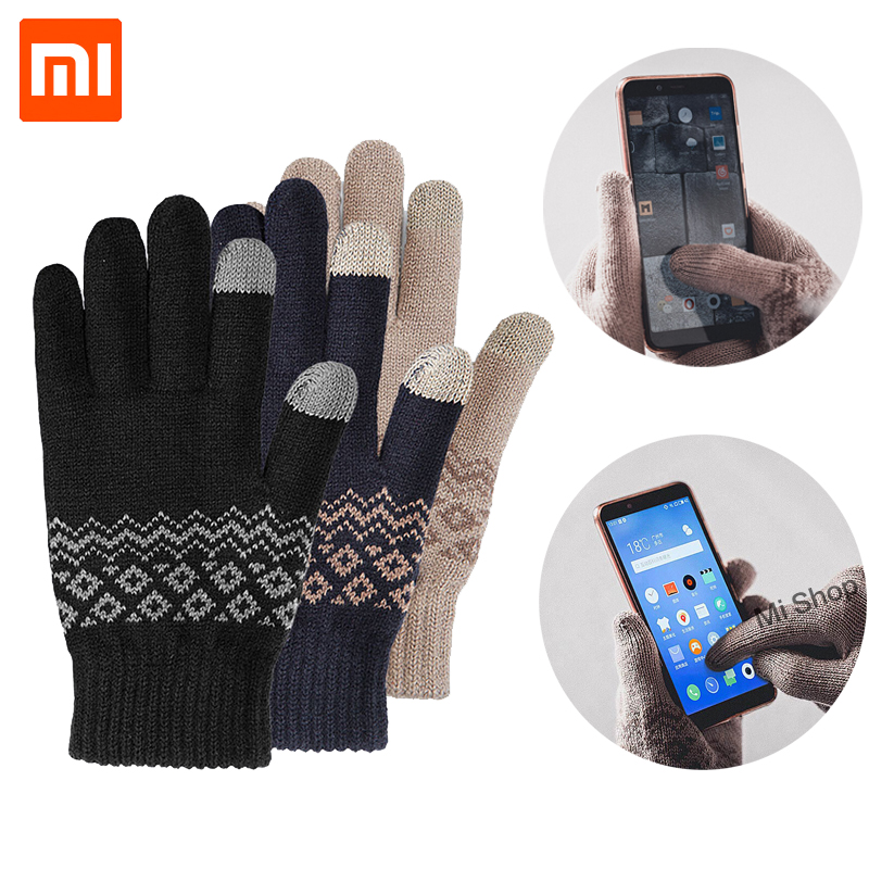 Xiaomi FO Finger Touch Screen Gloves for Women Men Winter Warm Velvet Gloves For Screen Phone Tablet Birthday Christmas Gift