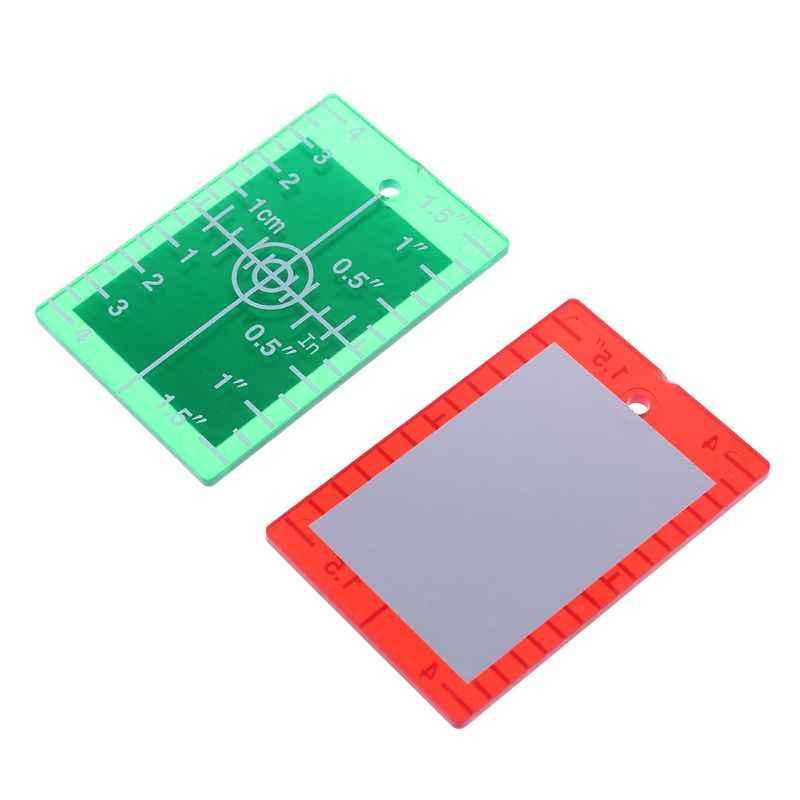 Placa do cartão do alvo do laser polegadas/cm para a placa do alvo do nível do laser verde e vermelho