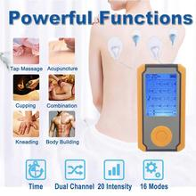 Tens Dual Input Electrical Stimulator Full Body Relax Muscle Massager Pulse Acupuncture Therapy EMS Relax Massage Health Care hot 16 mode mini tens electric full body massager pulse slimming muscle relax massage electric slim low frequency massager
