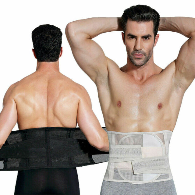 Men waist trainer пояс для похудения Shapers Slimming  Sweat Thermal Belt Belly Corset for Men Body Shaper Fat Burning  Shapers 5