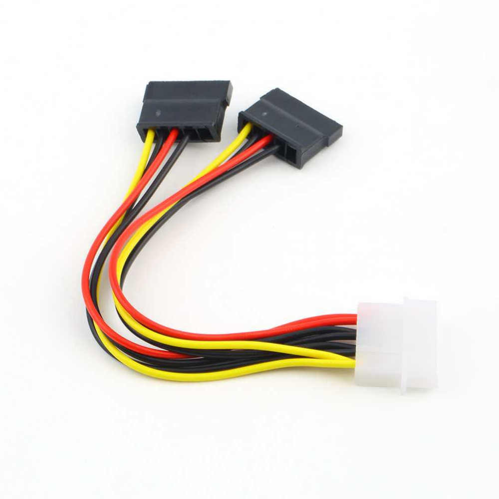 Nieuwe 4 Pin Ide Molex Naar 2 Van 15 Pin Serial Ata Sata Hdd Power Adapter Cable Nieuwe Y Splitter dual Hard Drive Kabel