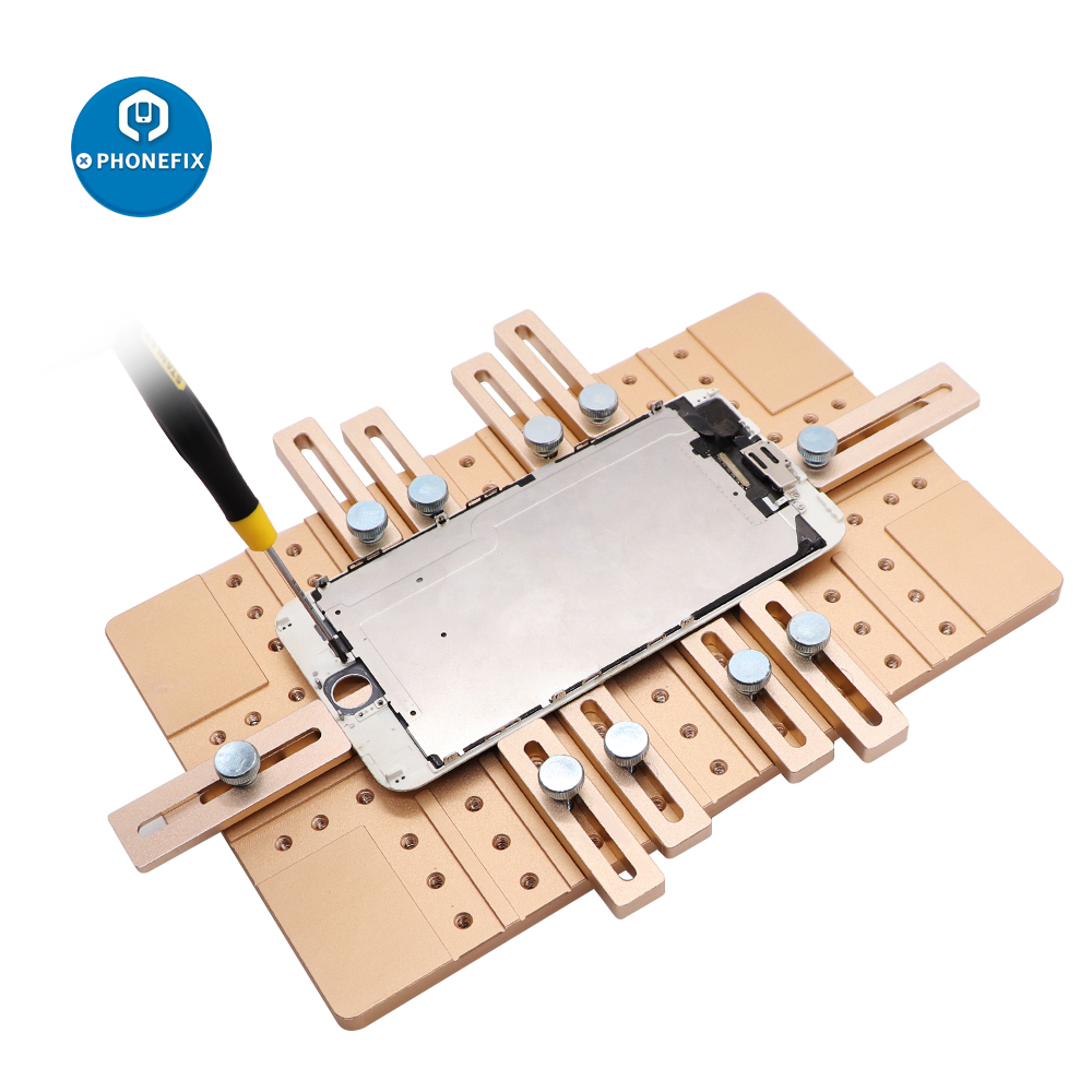 Universal Phone LCD Screen OCA Laminating Jig Holder Aluminium Alloy Positioning Clamp Mold For Cell phone LCD Screen Repair