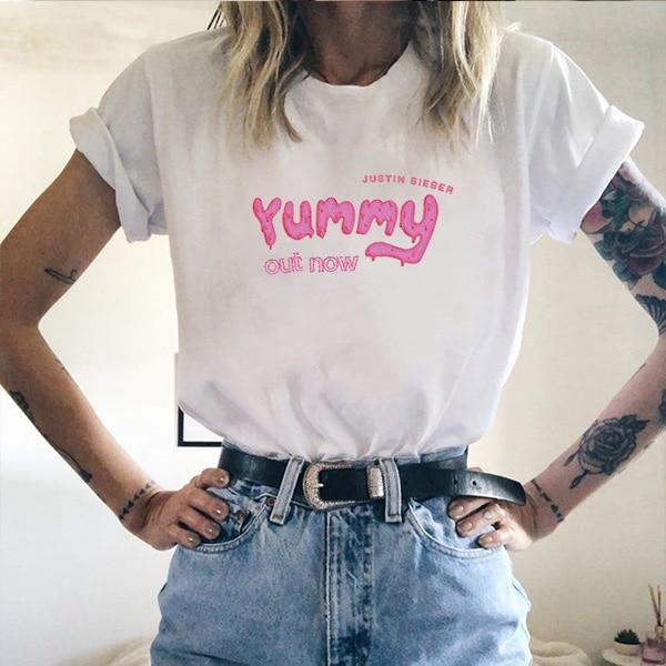 100% Cotton T Shirt Men Justin Bieber Yummy Harajuku Tshirt Women Short Sleeve T-Shirt Blusas Mujer De Moda 2018 Boyfriend Gift