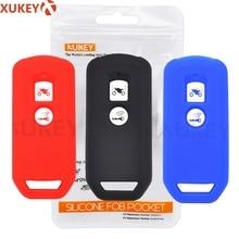 Carcasa de silicona para llave de mando a distancia para Honda PCX 150 hybrid X ADV SH125 Scoopy SH300 Forza 125 300, 2 botones