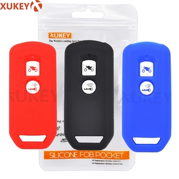 Silicone Remote Control Key Case Cover For Honda PCX 150 hybrid X-ADV SH125 Scoopy SH300 Forza 125 300 Motor Scooter 2 Button image