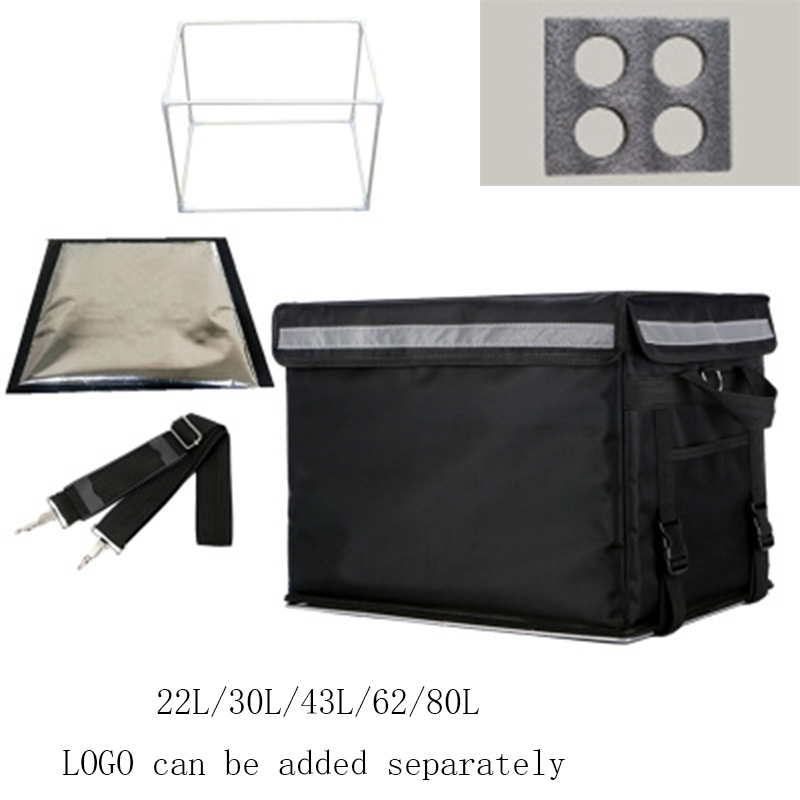 62L/80L Large Takeaway Backpack/bags Fast Food Pizza Delivery Ice Box Waterproof Refrigerated Insulation Lunch Bags Can Do Logo