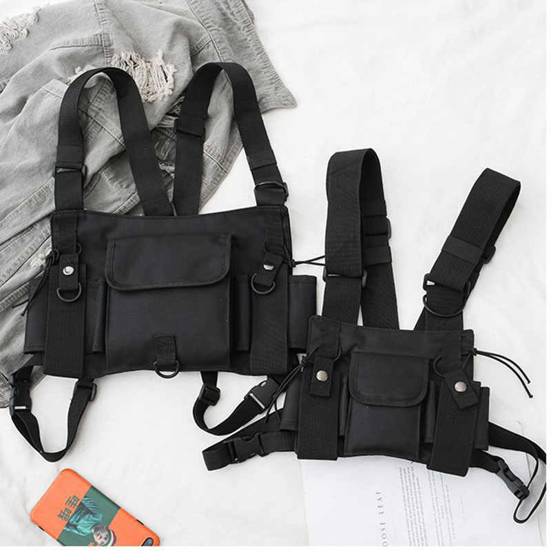 Einstellbare CS Brust Weste Tasche Funktionale Harness Fashion Kugel Hip Hop Weste Streetwear Taille Pack Tactical Chest Rig Tasche