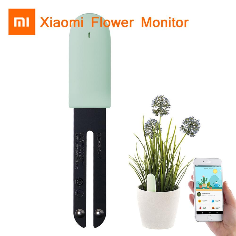 Neueste Xiao mi mi jia mi Blume Gras Monitor Digital Gras Blume Smart Tester Sensor Pflege Boden Wasser Licht Anlage detektor Erkennen-in Smarte Fernbedienung aus Verbraucherelektronik bei Hangrui 3C Store