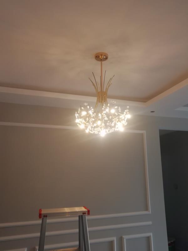 preto ouro prata quarto iluminação buquê de cristal lâmpada pendurada