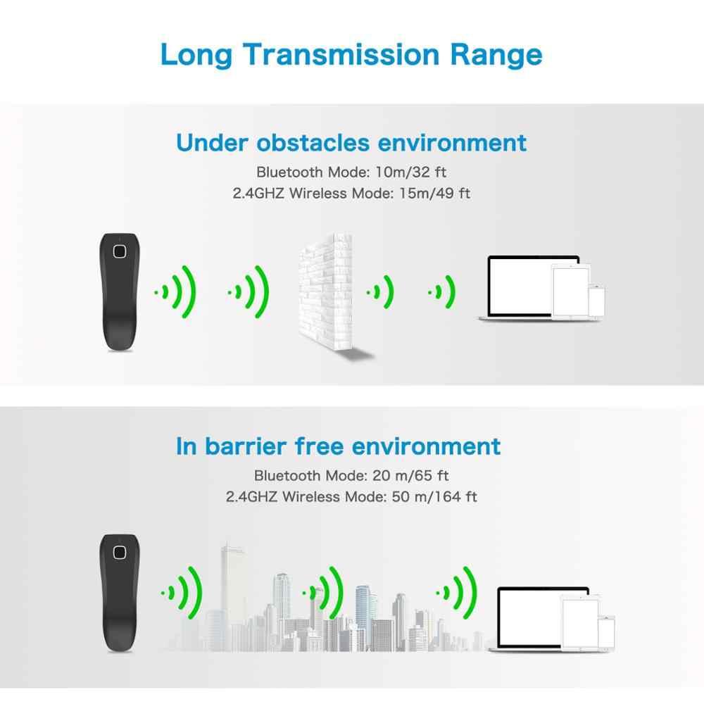 NETUM C750 inalámbrico Bluetooth 2D escáner de código de barras de bolsillo QR lector de código de barras PDF417 del tabaco de pago móvil de la industria