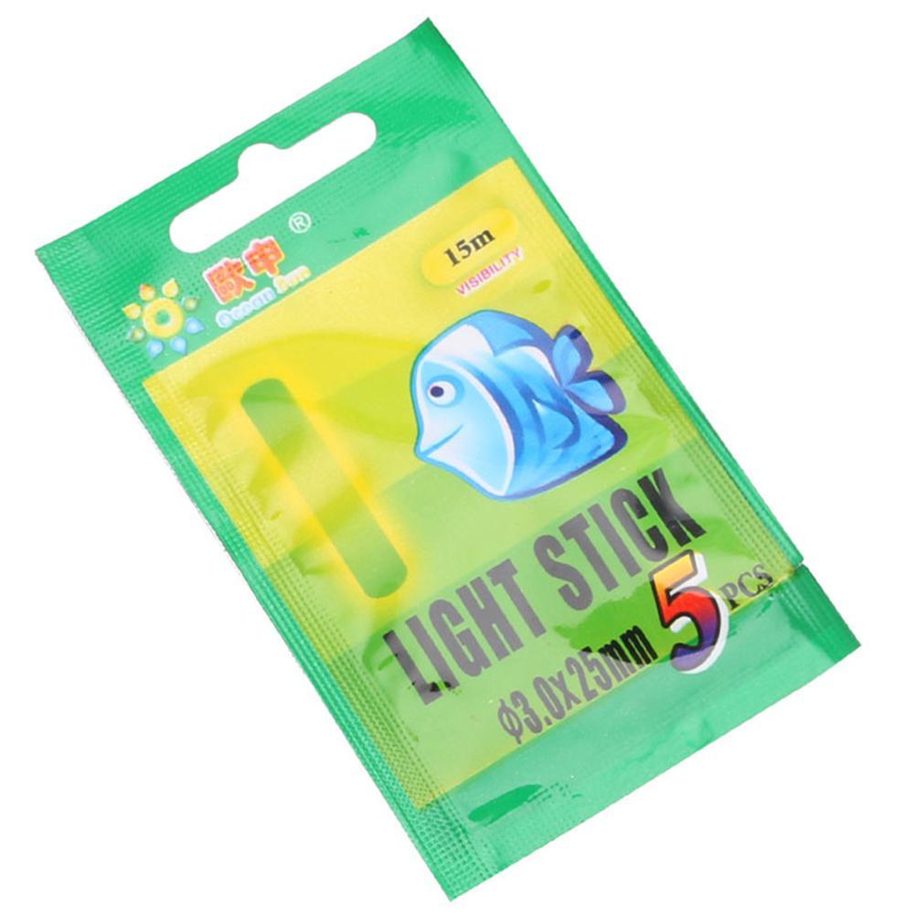 MeterMall 5/Bag 3.0*25MM Night Fishing Luminous Float Fluorescent Light Stick Rod Fishing Tools Range 15M