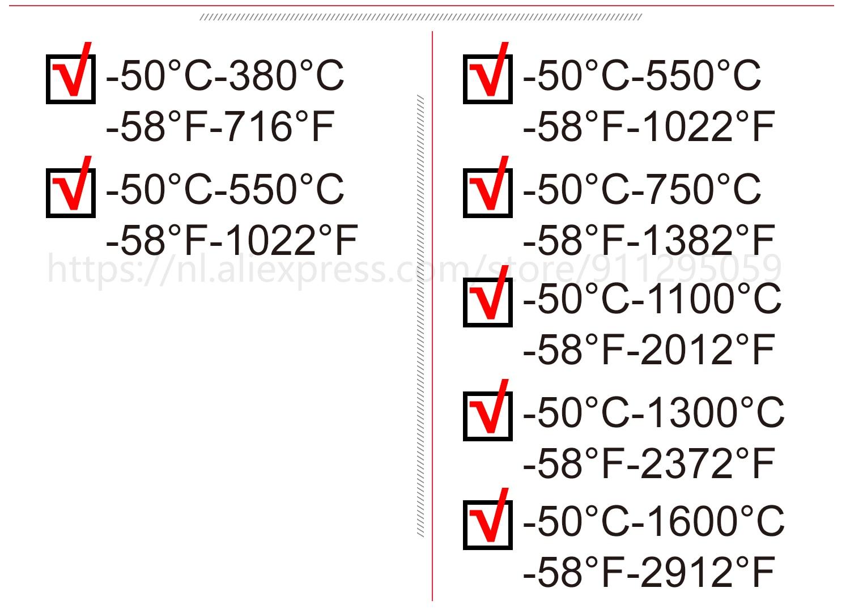 Kaemeasu Digitale Infrarood Thermometer -50 ~ 1600 Meetbereik, Non-contact, Veiligheid, Koken, industriële Elektronische Thermometer Pistool 16
